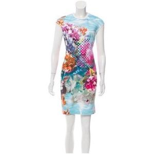 Clover Canyon Graphic Print Sheath Scuba Dress